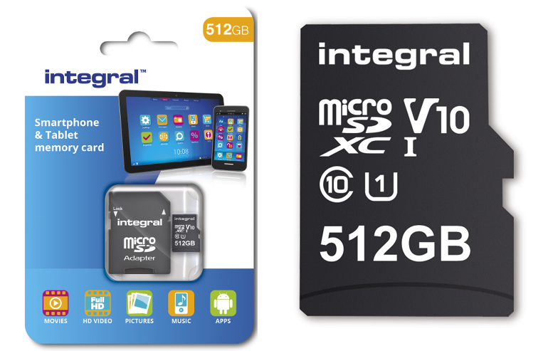 Say What?!? Integral crams 512GB into a tiny, tiny microSD card.